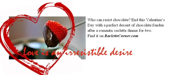 Chocolate Fondue for Valentines day